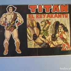 Tebeos: TITAN (1961, ACROPOLIS) 12 · 1-III-1962 · EL REY AKANTU. Lote 136416110