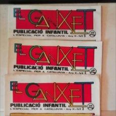 Tebeos: LOTE (NÚMEROS DEL 1 AL 5) DE LA REVISTA INFANTIL EL GANXET DE REUS ESPECIAL CATALUNYA AÑO 1976. Lote 137210462