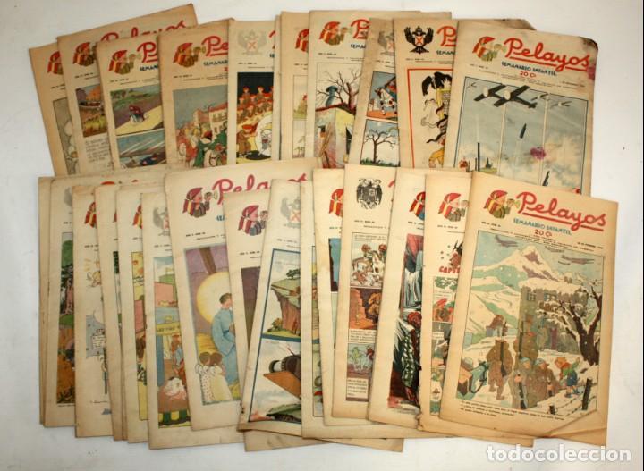 LOTE DE 35 SEMANARIO INFANTIL PELAYOS (Tebeos y Comics - Tebeos Clásicos (Hasta 1.939))