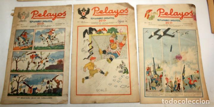 Tebeos: LOTE DE 35 SEMANARIO INFANTIL PELAYOS - Foto 3 - 137405662