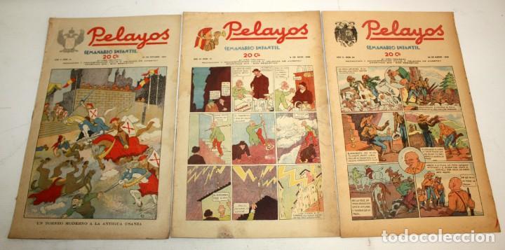 Tebeos: LOTE DE 35 SEMANARIO INFANTIL PELAYOS - Foto 5 - 137405662