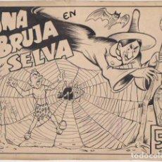 Tebeos: DIBUJOS ORIGINALES DE ANTONIO AYNÉ ESBERT. NARIZÁN. UNA BRUJA EN LA SELVA. 1946. EL TEBEO COMPLETO,. Lote 137526430