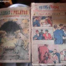 Tebeos: 2 COMIC DE FLECHAS Y PELAYOS, 1941 Y 1943. Lote 137722532