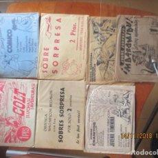 Tebeos: SOBRES SORPRESA DE TEBEOS -LOTE DE 7. Lote 140071678