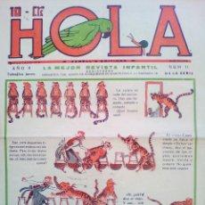 Tebeos: HOLA Nº 11 DE 1931 - SIN CORTAR. Lote 140305686