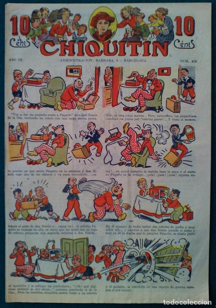 CHIQUITIN Nº 415 (Tebeos y Comics - Tebeos Clásicos (Hasta 1.939))