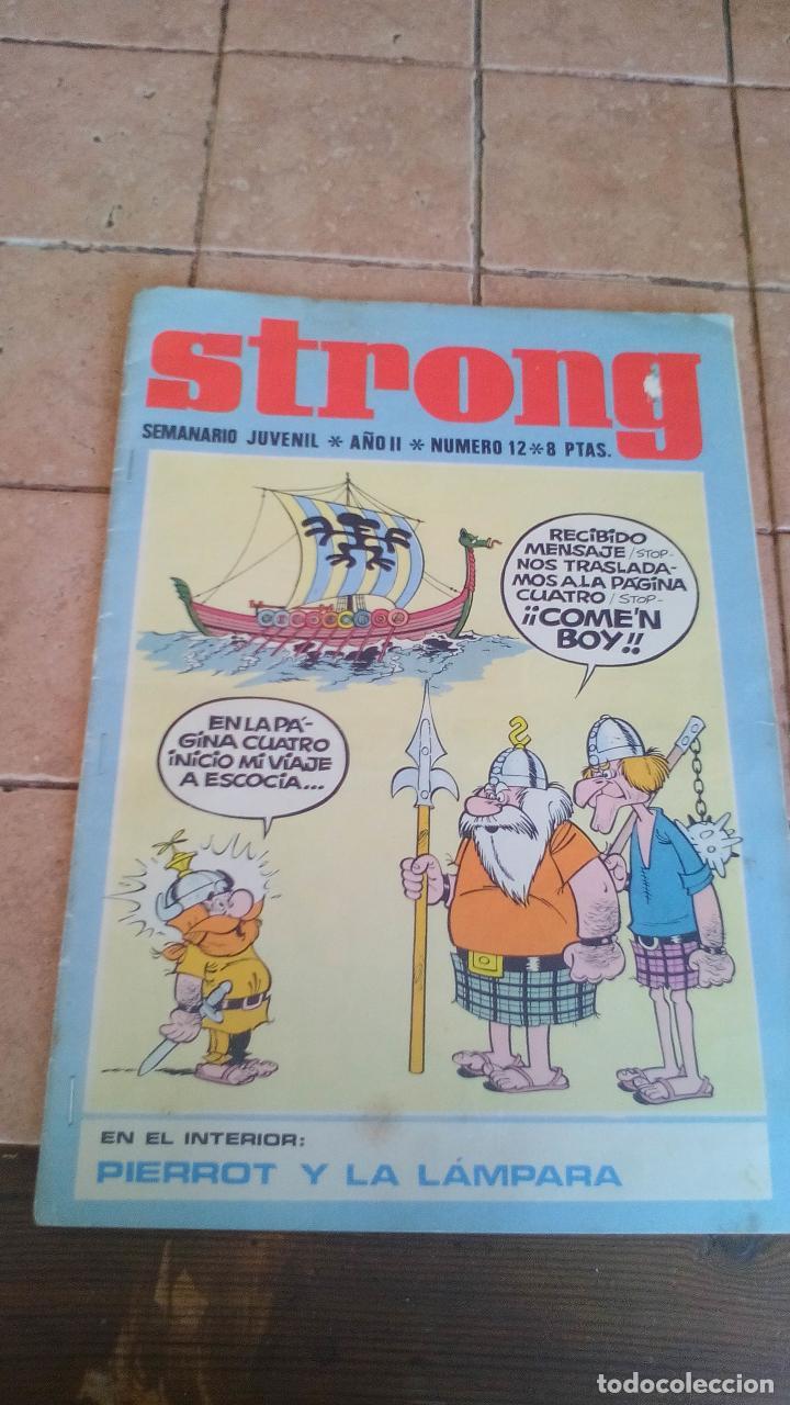 STRONG - SEMANARIO JUVENIL - NUMERO 12 - 8 PESETAS (Tebeos y Comics - Tebeos Otras Editoriales Clásicas)