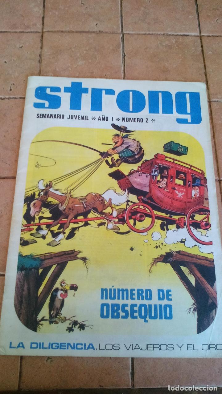 STRONG - SEMANARIO JUVENIL - NUMERO 2 - 8 PESETAS (Tebeos y Comics - Tebeos Otras Editoriales Clásicas)