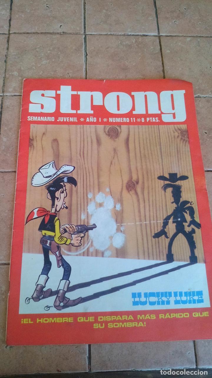 STRONG - SEMANARIO JUVENIL - NUMERO 11 - 8 PESETAS (Tebeos y Comics - Tebeos Otras Editoriales Clásicas)