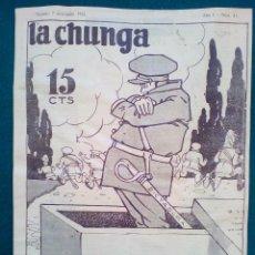 Tebeos: LA CHUNGA, REVISTA SATÍRICA ANTICLERICAL DE LA SEGUNDA REPUBLICA. Nº 21 DE 1932. Lote 140514646