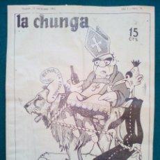 Tebeos: LA CHUNGA, REVISTA SATÍRICA ANTICLERICAL DE LA SEGUNDA REPÚBLICA - Nº 19 - DE 1932. Lote 140519198