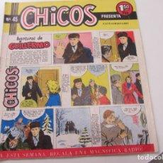 Tebeos: CHICOS Nº 45. EDITORIAL CID 1954. ORIGINAL C12. Lote 140622106