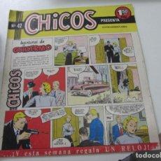 Tebeos: CHICOS Nº 42. EDITORIAL CID 1954. ORIGINAL C12. Lote 140623370