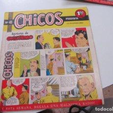 Tebeos: CHICOS Nº 40 EDITORIAL CID 1954. ORIGINAL C12. Lote 140624766