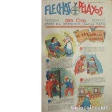 Tebeos: FLECHAS Y PELAYOS Nº 33. SEMANARIO NACIONAL INFANTIL. 23 JULIO 1939. Lote 53891015