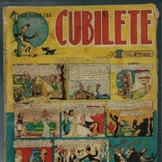 Tebeos: CUBILETE Nº 4 - GONG 1949 - CON FIGUERAS, SANCHIS,, PERIS, CARBO, GRAU - PROCEDE DE ENCUADERNACION. Lote 143043282