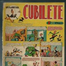 Tebeos: CUBILETE Nº 9 - GONG 1949 - CON TINEZ, SANCHIS,, PERIS, CARBO, MASSET - PROCEDE DE ENCUADERNACION. Lote 143044014