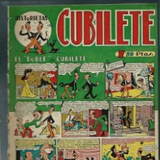 Tebeos: CUBILETE Nº 12 - GONG 1949 - CON TINEZ, SANCHIS, PERIS, CARBO, - ULTIMO Nº - PROCEDE DE ENCUADERNADO. Lote 143044246