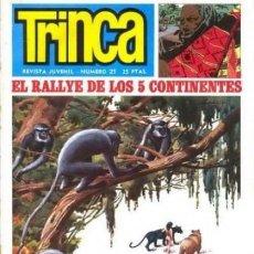 Tebeos: TRINCA - Nº 21- BIELSA-ARRANZ-VICTOR DE LA F.-ANTONIO H.PALACIOS-BERNET TOLEDANO-1971-DIFÍCIL-9801. Lote 143054354