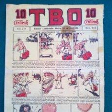 Tebeos: T B O Nº 374 - AÑO VIII. Lote 143092338