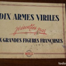 Tebeos: MARQUE WITHO DEPOSÉE- DIEZ GRANDES FIGURAS FRANCESAS CIRCA 1910 EN FRANCÉS . Lote 143141774