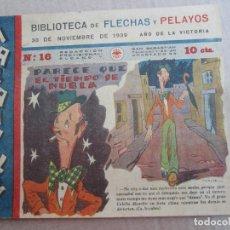 Tebeos: BIBLIOTECA FLECHAS Y PELAYOS , MARAVILLAS N. 16 , 30 NOVIEMBRE 1939 , AÑO DE LA VICTORIA. Lote 144475166