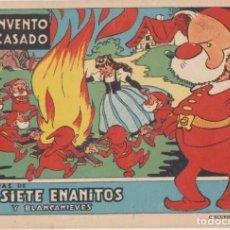 Tebeos: LOS SIETE ENANITOS Y BLANCANIEVES. UN INVENTO FRACASADO BRUGUERA 1944. DIFÍCIL. Lote 144980536