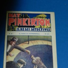 Livros de Banda Desenhada: (M0) NAT PINKERTON IL RE DEI DETECTIVES NUM 49 , TIP VECCHI , MILANO, SEÑALES DE USO . Lote 144984138