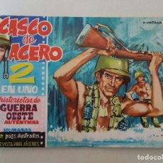Tebeos: CASCO DE ACERO. Nº 38. ULTIMO DE LA COLECCION. EDICIONES MANHATTAN. Lote 145288282