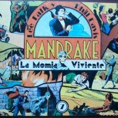 Tebeos: MANDRAKE Nº 7. LA MOMIA VIVIENTE.. Lote 146808582