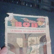 Tebeos: BOB INTERESANTES Y HEROICAS AVENTURAS DE UN NIÑO DETECTIVE, Nº . Lote 147011650