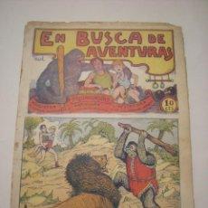 Tebeos: TBO-COMIC EN BUSCA DE AVENTURAS Nº 7 EDITORIAL EL GATO NEGRO DE BARCELONA ESTADO EL DE LAS FOTOS. Lote 148853242