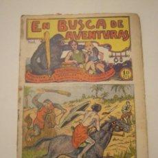 Tebeos: TBO-COMIC EN BUSCA DE AVENTURAS Nº 8 EDITORIAL EL GATO NEGRO DE BARCELONA ESTADO EL DE LAS FOTOS. Lote 148853442