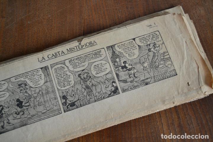Tebeos: AVENTURAS DEL RATON MIGUELIN * MICKEY MOUSE * LA CAJITA MISTERIOSA * 66 TIRAS AÑOS 30 - Foto 2 - 149443054