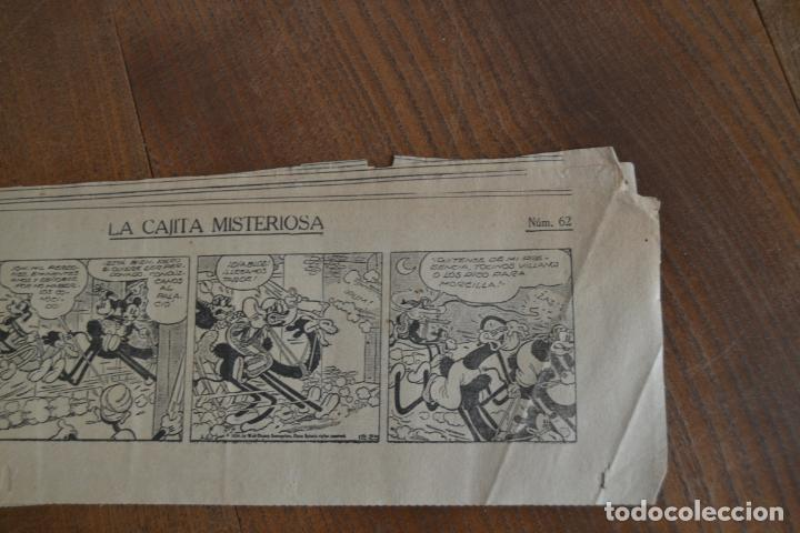 Tebeos: AVENTURAS DEL RATON MIGUELIN * MICKEY MOUSE * LA CAJITA MISTERIOSA * 66 TIRAS AÑOS 30 - Foto 5 - 149443054