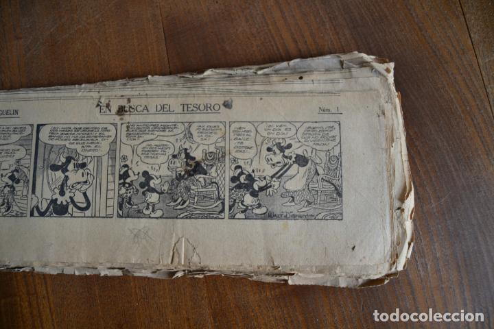 Tebeos: AVENTURAS DEL RATON MIGUELIN * MICKEY MOUSE * EN BUSCA DEL TESORO * 100 TIRAS AÑOS 30 - Foto 2 - 149443278