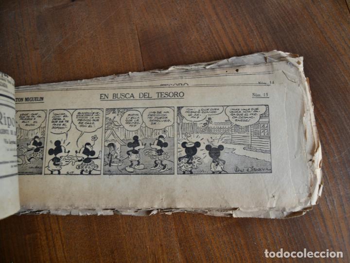 Tebeos: AVENTURAS DEL RATON MIGUELIN * MICKEY MOUSE * EN BUSCA DEL TESORO * 100 TIRAS AÑOS 30 - Foto 3 - 149443278