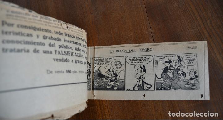 Tebeos: AVENTURAS DEL RATON MIGUELIN * MICKEY MOUSE * EN BUSCA DEL TESORO * 100 TIRAS AÑOS 30 - Foto 5 - 149443278