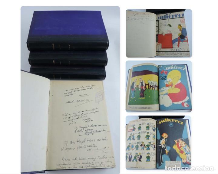 GUTIERREZ, DEL NUM. 1 DE 1927 AL 100 DE 4 DE MAYO DE 1929, DEDICATORIAS AUTOGRAFAS DE K-HITO, ORBEGO (Tebeos y Comics - Tebeos Clásicos (Hasta 1.939))