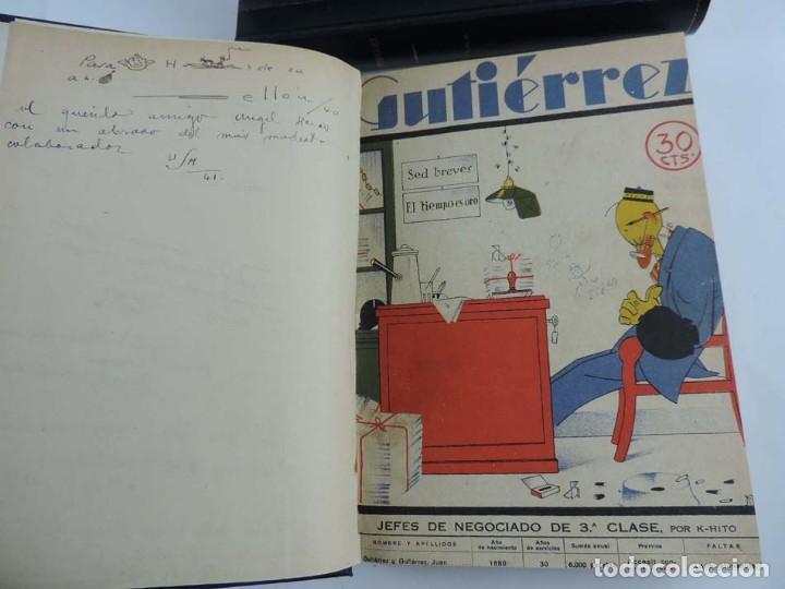 Tebeos: Gutierrez, del num. 1 de 1927 al 100 de 4 de mayo de 1929, dedicatorias autografas de K-HIto, Orbego - Foto 4 - 151226614