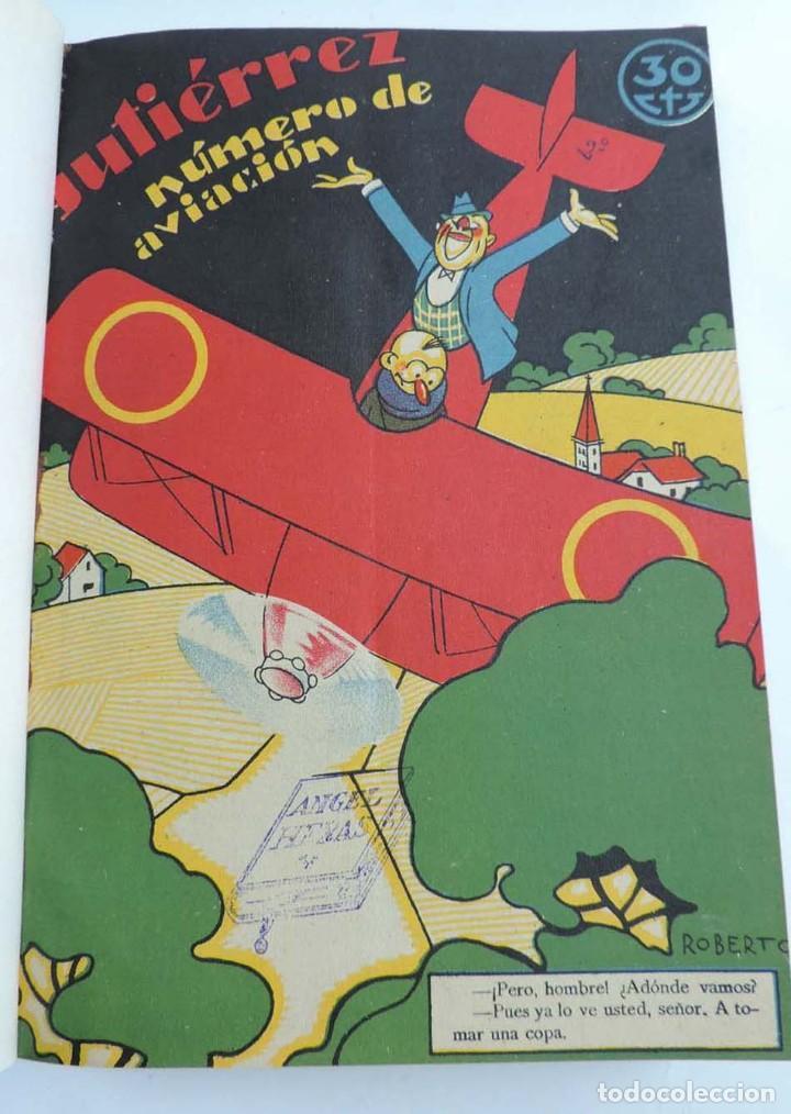 Tebeos: Gutierrez, del num. 1 de 1927 al 100 de 4 de mayo de 1929, dedicatorias autografas de K-HIto, Orbego - Foto 9 - 151226614