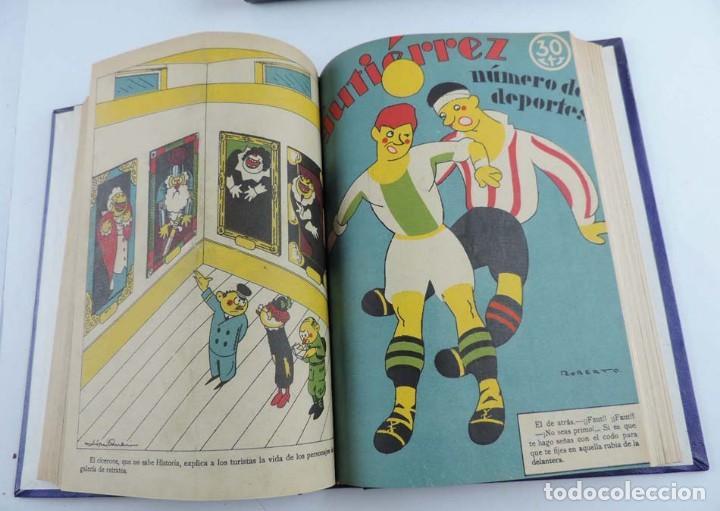 Tebeos: Gutierrez, del num. 1 de 1927 al 100 de 4 de mayo de 1929, dedicatorias autografas de K-HIto, Orbego - Foto 10 - 151226614