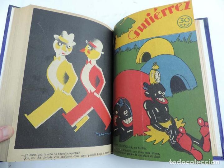 Tebeos: Gutierrez, del num. 1 de 1927 al 100 de 4 de mayo de 1929, dedicatorias autografas de K-HIto, Orbego - Foto 14 - 151226614