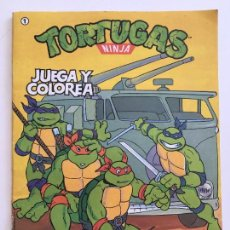 Tebeos: TORTUGAS NINJA, PINTA I COLOREA DE EDICIONES ZINCO SA. Lote 153312446