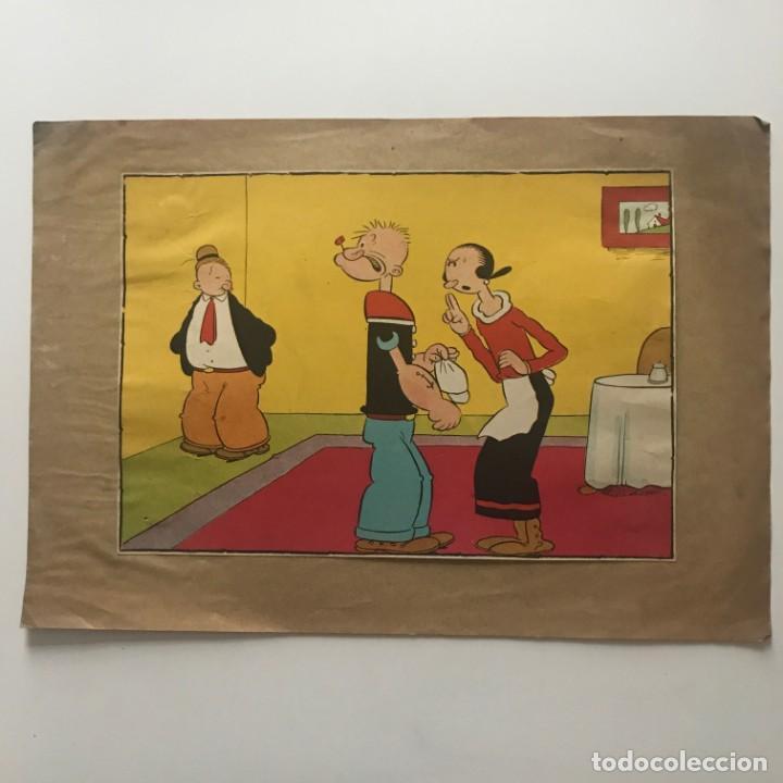 Tebeos: Popeye y Olivia. Ilustración antigua - Foto 2 - 153507354