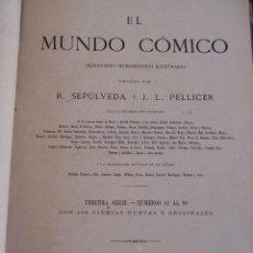 Tebeos: EL MUNDO CÓMICO DESDE EL Nº 61 DEL 28-12-1873 AL Nº 90 DEL 18-7-1874. Lote 154476150