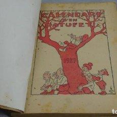 Tebeos: CALENDARI D'EN PATUFET , 1927 . . Lote 154838186