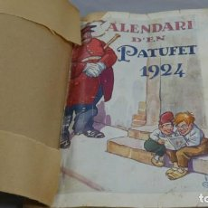 Tebeos: CALENDARI D'EN PATUFET 1924. Lote 154838282