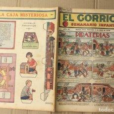 Tebeos: EL GORRION SEMANARIO INFANTIL. Nº 174. 1 DE ABRIL DE 1936. RECORTABLE LA CAJA MISTERIOSA EN TRASERA. Lote 155257498