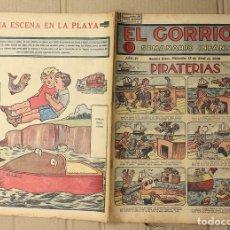 Tebeos: EL GORRION SEMANARIO INFANTIL. Nº 176. 15 DE ABRIL DE 1936. RECORTABLE UNA ESCENA EN LA PLAYA. Lote 155258902